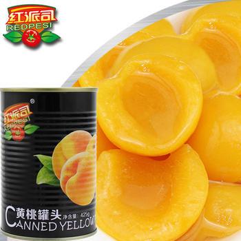 红派司 新鲜水果黄桃罐头425g*6美味糖水食品